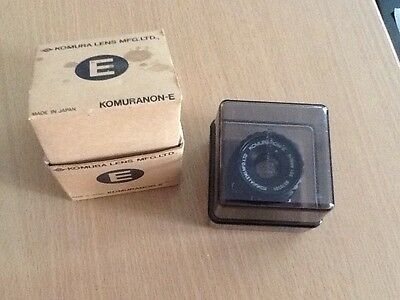 KOMURANON-E f=75mm Lens in keeper and box