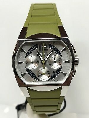 Breil Watch Chrono Military Steel/Rubber Wr 50m Discounted New