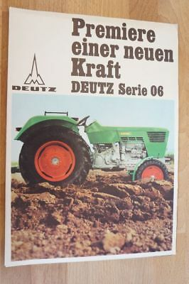 deutz schlepper prospekt poster typ premiere einer neuen kraft 16 seiten 1968 eur 14 50. Black Bedroom Furniture Sets. Home Design Ideas
