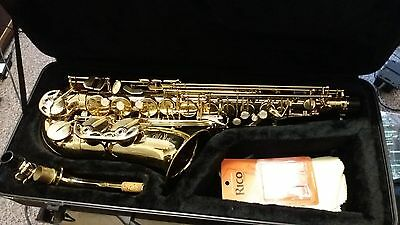 Stagg 77-SA Alto Saxophone with Hard Case and Shoulder Strap