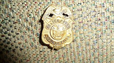 Police court Badge 1950's New york gold in color
