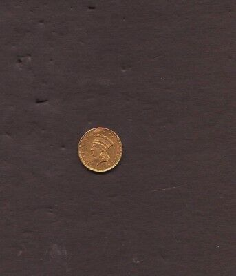 1857 Gold Dollar Mount Removed at 12 O'clock Nicely Detailed Obverse Type Three