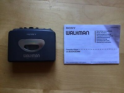 Sony Walkman WM-EX342 Personal Cassette Player + Instructions