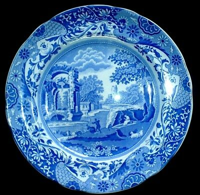 COPELAND SPODE'S ITALIAN Blue / White 9 inch Plate x 1 ( 3 available)
