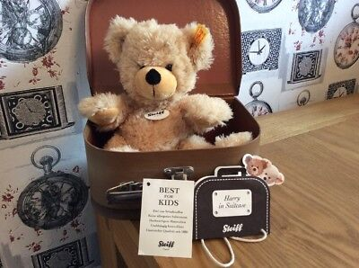 Steiff Bear Harry In Suitcase Immaculate Condition Low Low Start