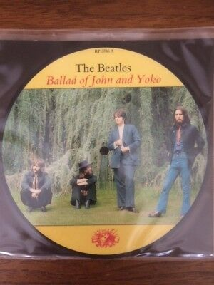 The Beatles 20Th Anniversary Picture Disc - The Ballad Of John And Yoko