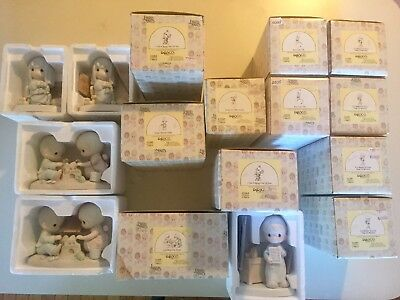 precious moments lot of 16 figurines