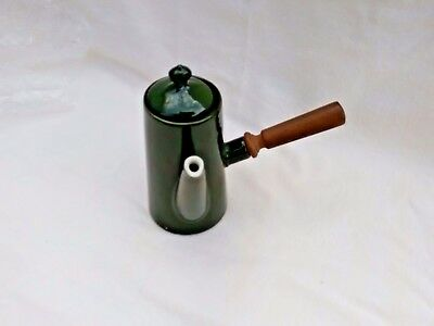 Vintage Charles Pillivuyt Mehun French Hot Chocolate Pot with Wood Side Handle