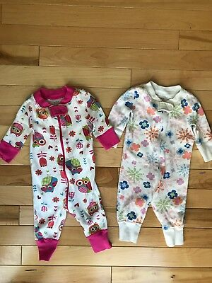 Hanna Andersson Baby Girl Pajamas Owls Flowers Lot 50
