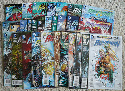 Aquaman (New 52 DC) Lot Issues 0-25, Annual 1, Villain issues 23.1,23.2