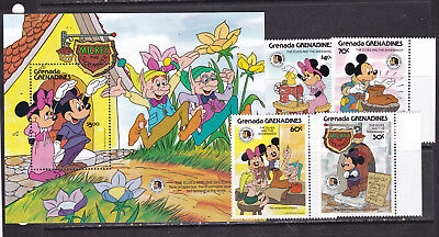 Grenada Grenadines 1986 disney cartoons mickey mouse animation set+s/s MNH