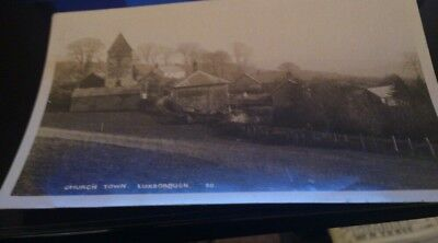 Old real photo pc church town luxborough posted publ hh Hole