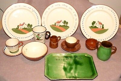 JOB LOT Torquay Devon/ware Dartmouth Watcombe Plates cups and bowls. See listing