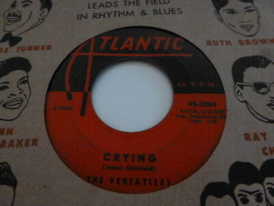 The Versatiles Passing By / Crying Atlantic Soul Doo-Wop   Very Nice