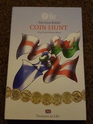 £1 coin hunt collection album with coins