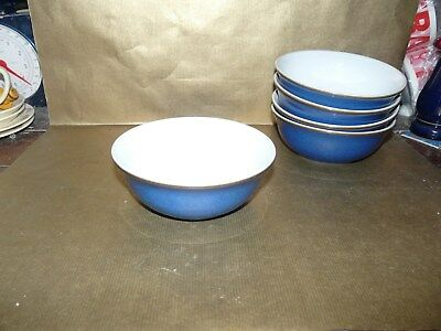 "denby imperial blue small cereal / fruit bowl 5.75"" diameter"