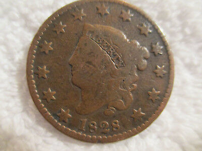 1828 Classic turban Head Half Cent Coin 13 stars