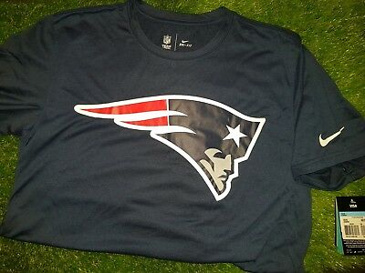 Nike NFL New England Patriots Legend Logo Essential Dri-Fit T-Shirt MEDIUM