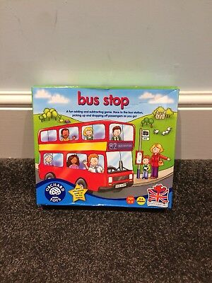 Bus Stop BOARD GAME COMPLETE Christmas Orchard Toys