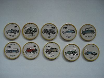 Jell-O Promotion Lot Of 10 Different Plastic Coins Car  Vintage Lot # 11