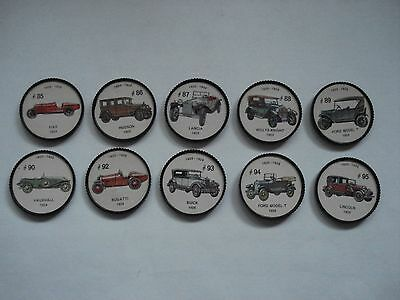 Jell-O Promotion Lot Of 10 Different Plastic Coins Car  Vintage Lot # 9