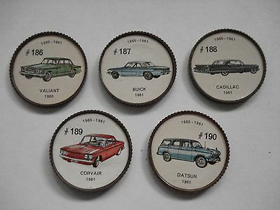 Jell-O Promotion Lot Of 5 Different Plastic Coins Car  Vintage Lot # 24