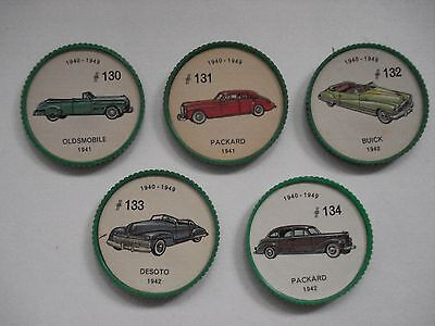 Jell-O Promotion Lot Of 5 Different Plastic Coins Car  Vintage Lot # 13