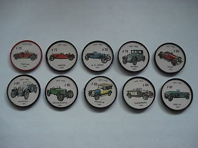 Jell-O Promotion Lot Of 10 Different Plastic Coins Car  Vintage Lot # 8