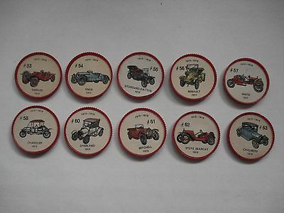 Jell-O Promotion Lot Of 10 Different Plastic Coins Car  Vintage Lot # 6
