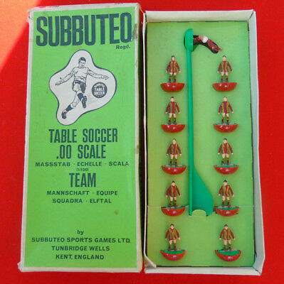 subbuteo team WALES !!!! / OSTENDE FIRST!!!! NOT SURE!!!