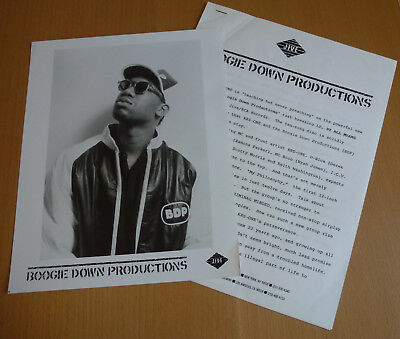"""Vintage BDP Press Kit 1988 BY ALL MEANS NECESSARY 8x10"""" Glossy Photo Krs-One"""