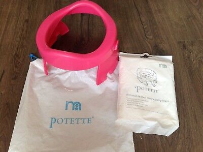 Travel Potty - Mothercare Potette and 5 disposable bags