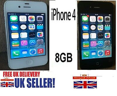 Apple iPhone 4 8GB 16GB Black & White(Unlocked all Networks) smartphone