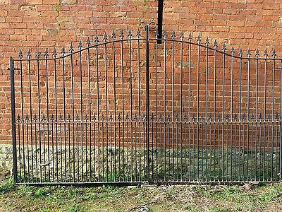stylish black metal gates Heavy Duty