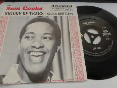 "Sam Cooke Sugar Dumpling / Bridge Of Tears 1960's Northern Dancer 7"" Pic Slv Ex"