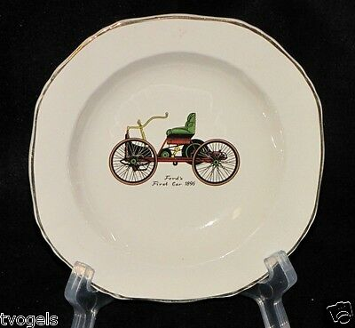 Vintage Afred Meakin England Porcelain Ford's First Car 1896 Dish Plate