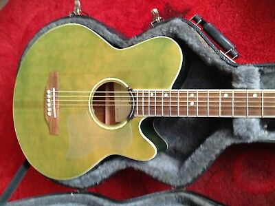 Green-WESTFIELD SEMI-Acoustic Guitar and Hard-Case