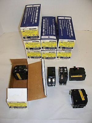 (Lot of 10) SQD QO220HID 20A 2P 120/240V w/ Versi-Trip Cir Bkr (29-Av)(11-Sold)