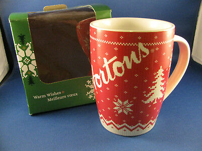 NEW Tim Hortons Red Christmas Sweater Mug 2015 Limited Edition Coffee Tea Cup
