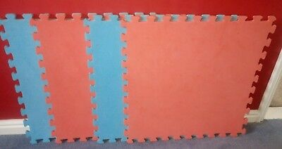 Red and blue foam play safety mat good condition