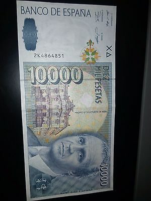 Billete de 10000 pesetas de 1992