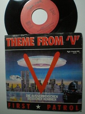 FIRST PATROS Theme From V GERMANY 45 1988 Cult TV OST Sci-Fi ALIENS Reptilians