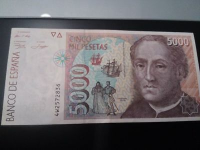 Billete de 5000 pesetas de 1992