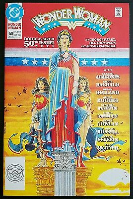 WONDER WOMAN #50 (2nd SERIES) ANNIVERSARY ISSUE NM/NM+