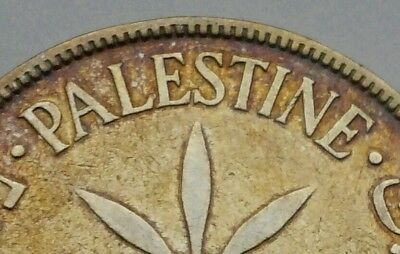 Palestine 100 Mils 1927. KM#7. .720 Silver One Hundred cents coin. British Admin