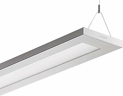 Trilux LUCEO Indoor 55W Grey,Silver - ceiling lighting (Indoor, Grey, Silver, R