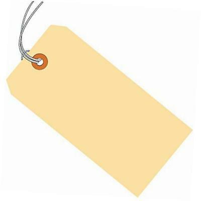 """bg10062 shipping tags, pre-strung, 13 point, 5 1/4"""" x 2 5/8"""", manila (pack of"""
