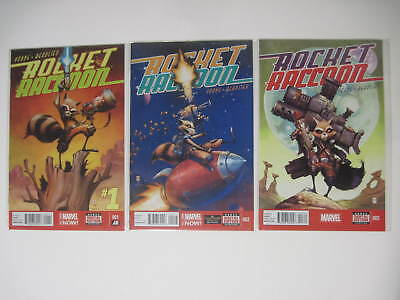 Rocket Raccoon #1-3 Marvel Now 2014 Skottie Young Cover & Art 1St Three Issues