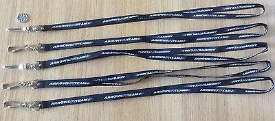 Arrows F1 Team Formula One Staff Personnel Durable Lanyard Holder Set Of 5