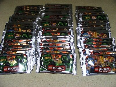 75 SEALED PACKETS of LEGO NINJAGO  (series 1) trading cards